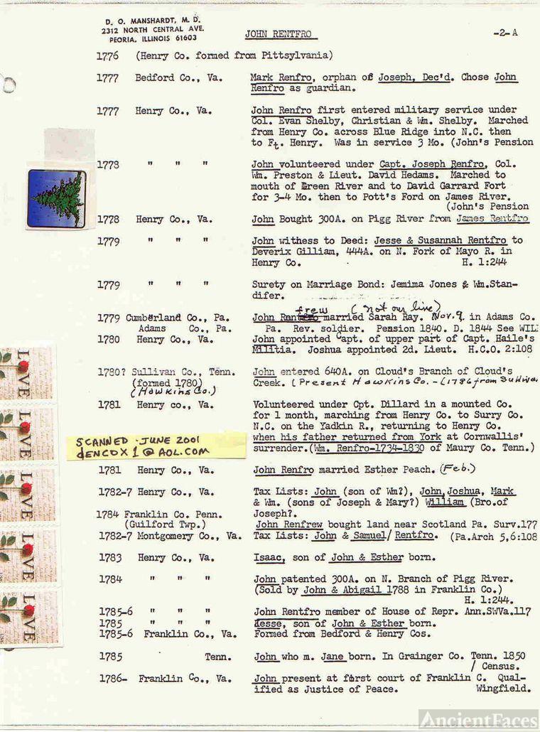 John Renfro Records (3-10)- D. O. Manschardt, MD