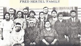 Friedrich & Christina (Neumueller) Hertel Family