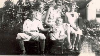 Allen Children in back of Home