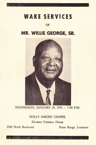 Willie George Sr. funeral