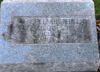 Elizabeth Mcqueeney Tombstone