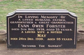 Evan Forster and May Humphrey Gravesite