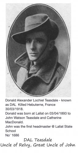 A photo of Donald Lochiel Teasdale
