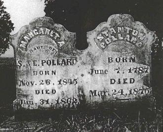 Tombstone of Stanton Pollard & his daughter