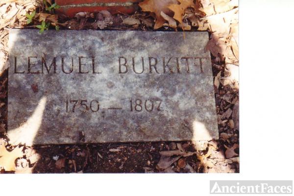 Tombstone of Lemuel Burkitt