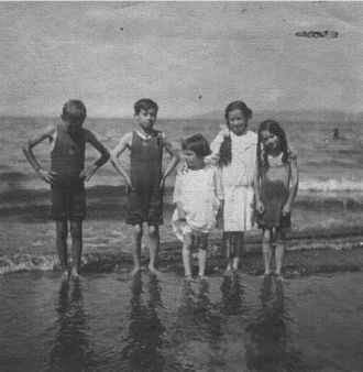 Tasker children at the beach