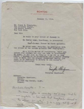 Unvle Wm Forsythe's Letter