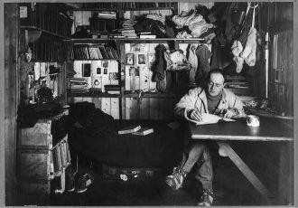 Captain Robert F. Scott writing in his diary