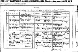James Torbert Reilly marriage