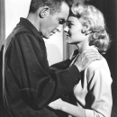 Montgomery Clift and Hope Lange in THE YOUNG LIONS.