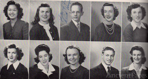 Jean Char  and Graduating students 1945