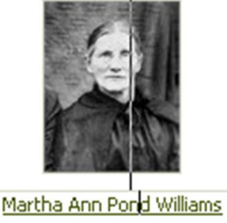 Mrs. Martha Ann (Pond) Williams