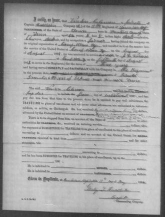 Vincent Coleman Enlistment Papers