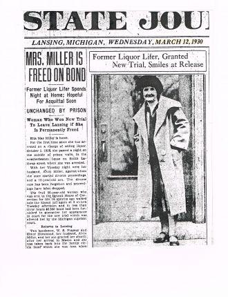 Etta Mae (Waid) Miller, Michigan 1930