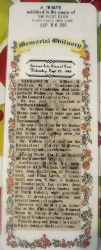 William Robert Wallace Obituary