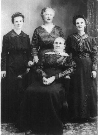 Emaz Standiford, Mary Newlins, Martha Ames, Margaret Richardson