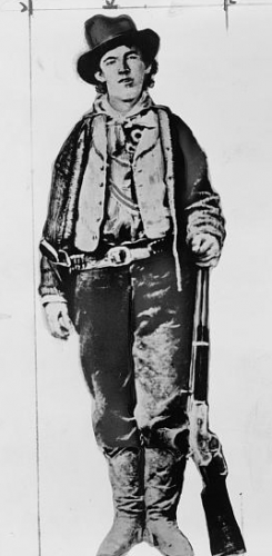 [Billy the Kid, full-length portrait, facing front]