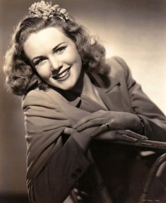 Barbara Britton in Sepia.