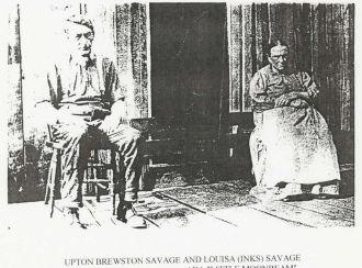 Upton Brewston Savage & His Wife, Louisa Inks
