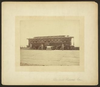 President Abraham Lincoln's railroad funeral car