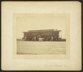 President Abraham Lincoln's railroad funeral car