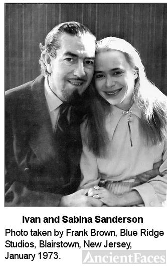 Ivan T. Sanderson and Sabina, 1973