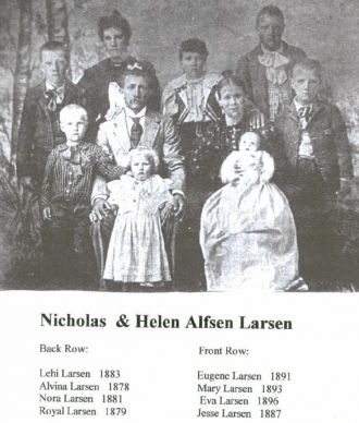 Nicholas Larsen and Helen Alfson Family