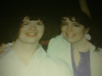 Sandra and her mother Brenda, July, 1986
