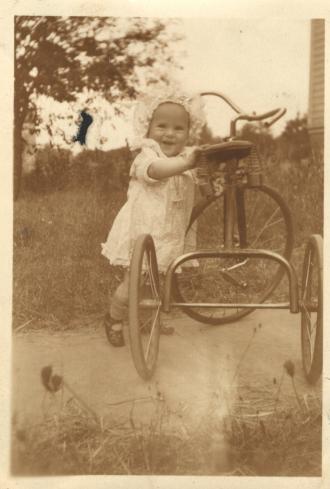 Little girl, bike trike
