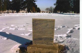 Looking East, Tombstone of Elizabeth Melissa (Carl) Murray, 1856-1918, Wife of James Ellison Murray