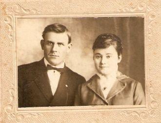 Wedding Irene Hair &  Mr.Jessie Palmer Hodges Tx 1916