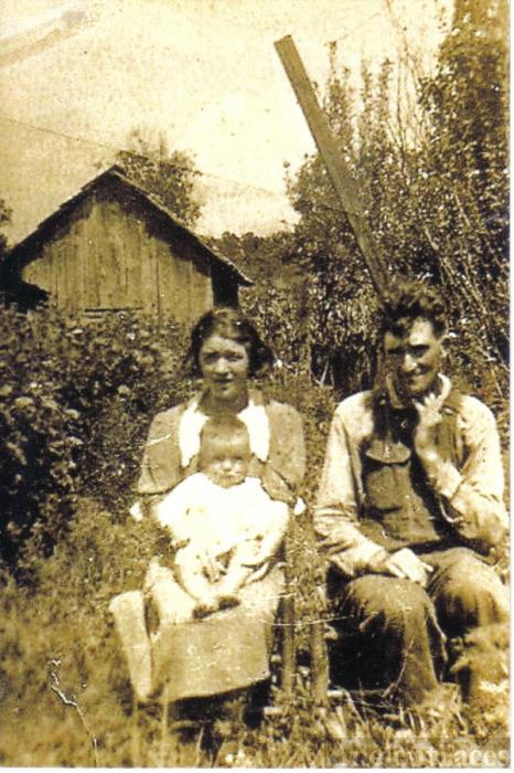 Emory, Walter, & Cecil (Creech) Parsley, Kentucky