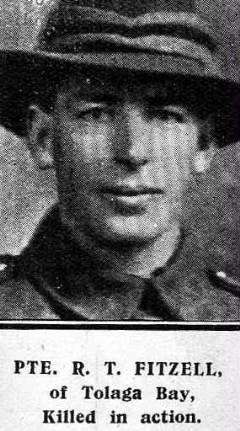 Private Robert Thomas Fitzell