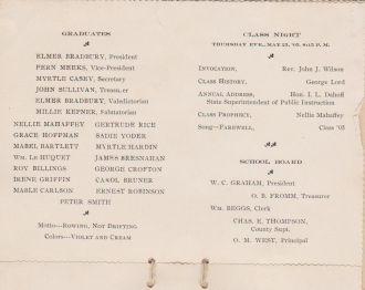 Elmer Bradbury, 1905 Chelsea School page 2