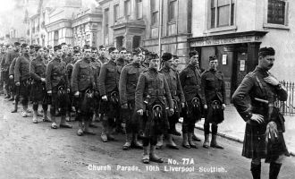 Liverpool Scottish, Tunbridge Wells, 1914