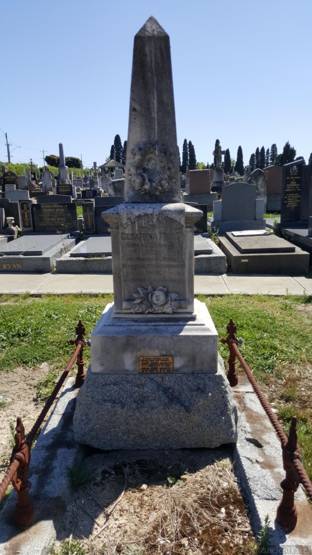 Cesarina Maddalena P Ruffo gravesite