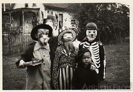 Neighborhood Halloween in the 1930's