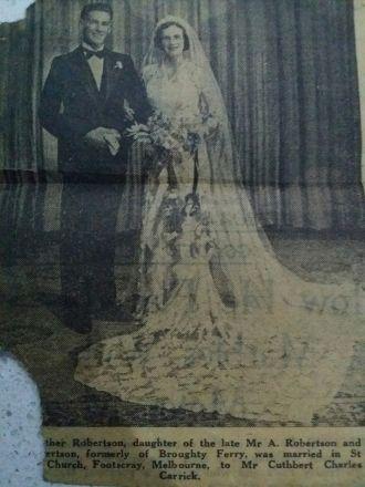 Cuthbert & Isabella Carrick wedding