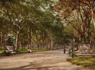Lower end of mall, Central Park, New York