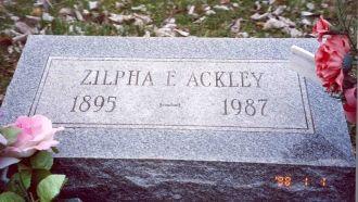 Zilphia Ackley Headstone