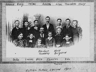 Abraham Trombley Family, c 1900