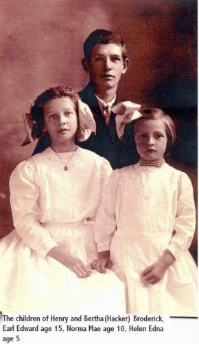 Children of Henry and Bertha Broderick