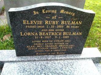 Elevie & Lorna Beatrice Bulman gravesite