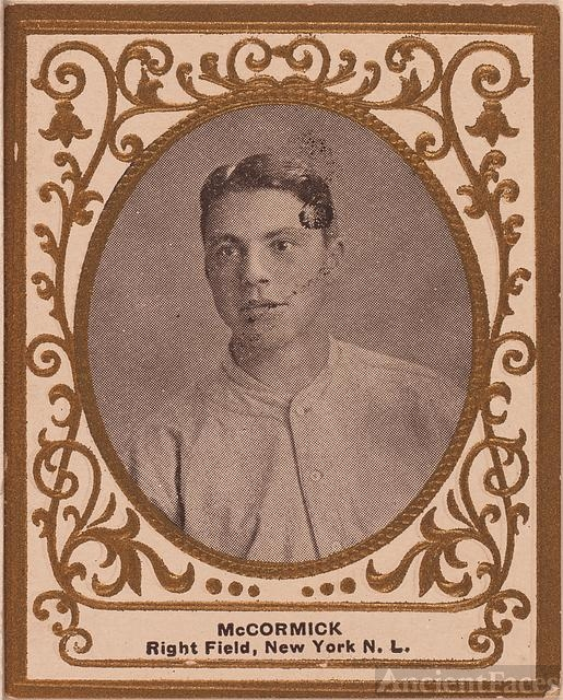 [Moose McCormick, New York Giants, baseball card portrait]