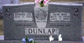 Alva M. (Scroggins) Dunlap gravesite