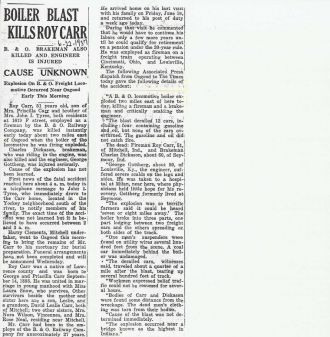 News Article #1 About Roy Carr's Death
