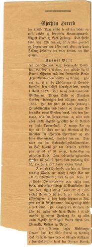 Obituary of Theodor August Isaksen Buer