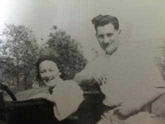 Mary Louise O'Hara-O'Brien with husband John Edwin