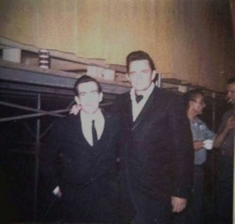Johnny Cash and Lovell Webb