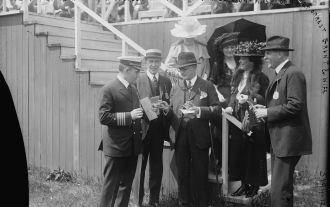 Arthur Jackson at the races